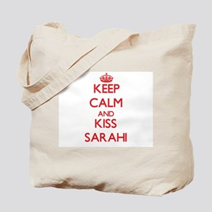 Keep Calm and Kiss Sarahi Tote Bag